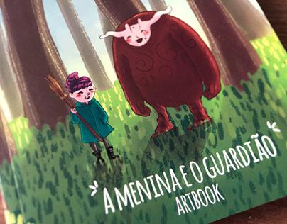 """Artbook """"A Menina e o Guardião"""""""