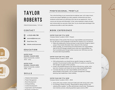 Resume/CV - The Taylor 2021 Update