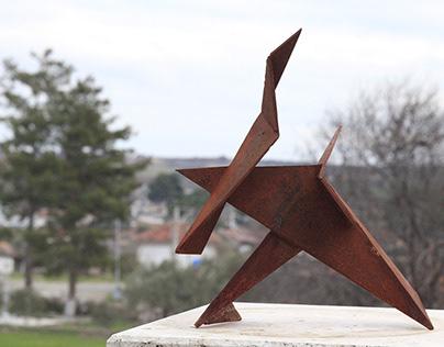 Dare to Dream, Paper & Metal Sculpture