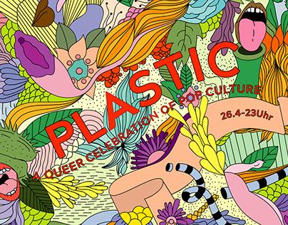 Plastic poster series