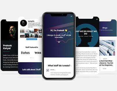 Personal Site Design - Prateek Katyal