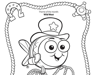 Coloring Pages for Goldfish Swim School