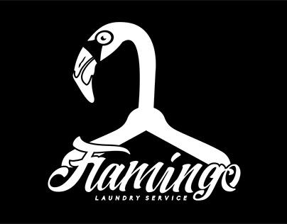 (Logo) Flamingo Laundry Service