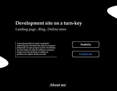 Landing page - development