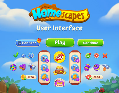 Homescapes User Interface