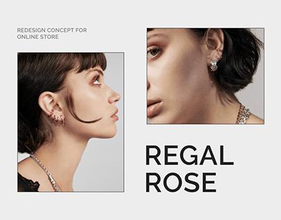 REGAL ROSE — redesign e-commerce concept