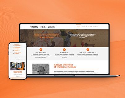 Thierry H. Conseil: One page responsive website/blog