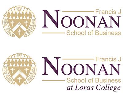 Noonan School of Business logo variation process