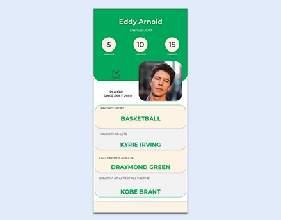 Your favorite Sports App Mockup Concept 01