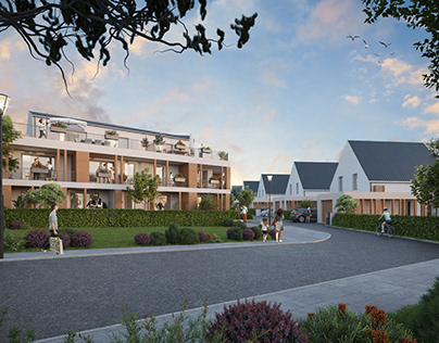 residential architecture 3d rendering