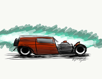 hot rod in Adobe Illustrator mobile