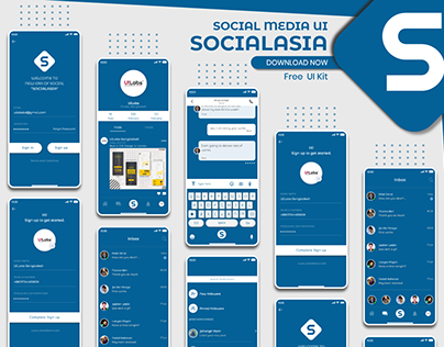 SocialAsia | Free Ui Kit Download