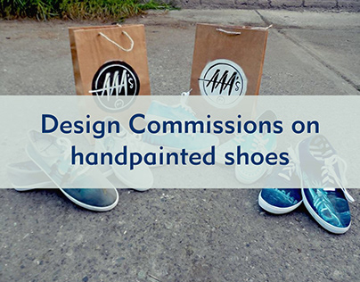 Design on Handpainted shoes