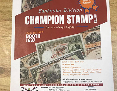 Newspaper Ad - Banknote Show