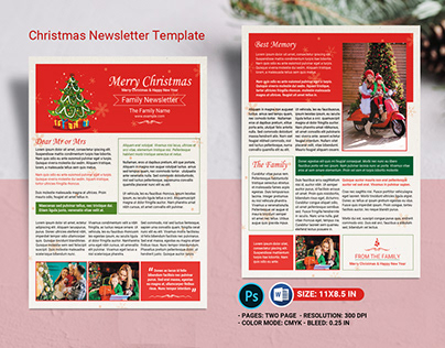 Holiday Newsletter Projects Photos Videos Logos Illustrations And Branding On Behance
