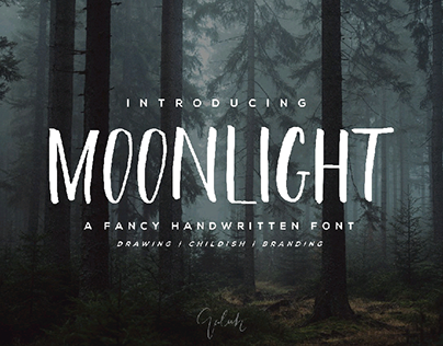 Moonlight Brush Font