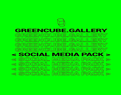 greencube.gallery - social media pack, graphic identity