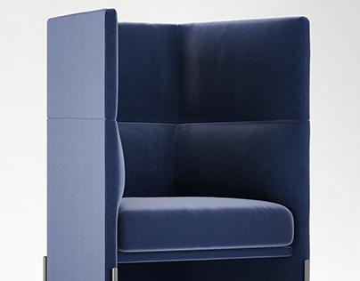 Algon High Back Chair 3D Model