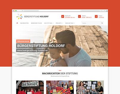 Responsive Website für die Bürgerstiftung Holdorf