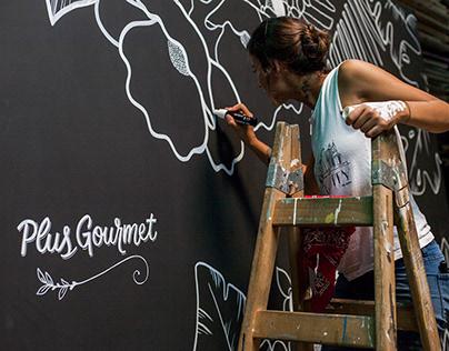 Exhibition Stand Mural / Bazar Plus Market