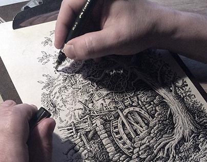 Graphic design mill tree