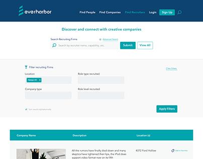 Recruitment website UI/UX design