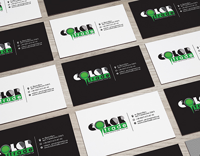 COLOR TRADE BUSINESS CARDS