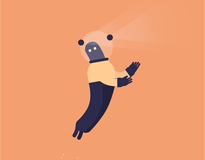 Space Man GIF