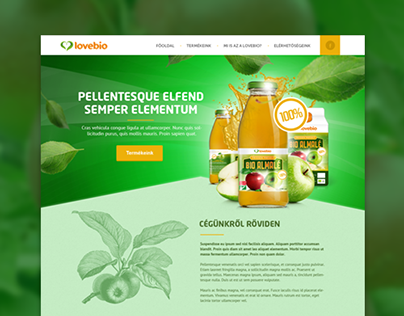 LoveBio product page webdesign