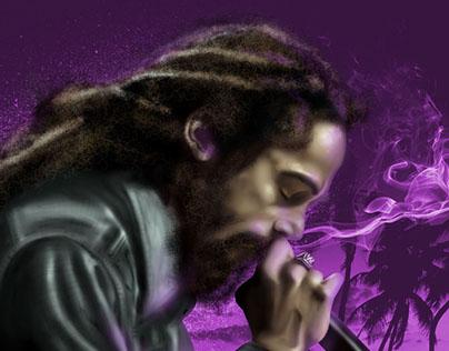 Damian Marley   Digital Illustration