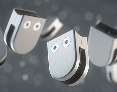 Funny Stainless Steel Glass Clamps