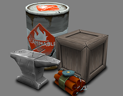 Painted Game Assets