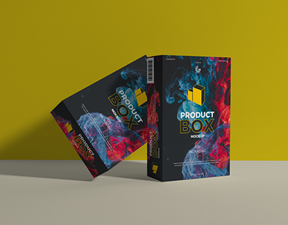 Free Product Box Mockup For Packaging