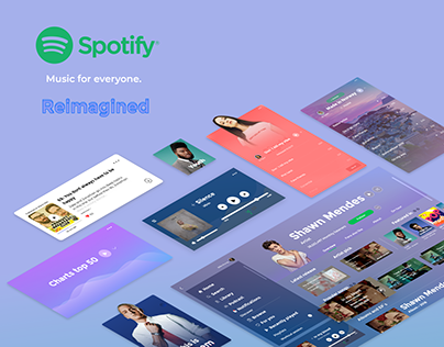 Spotify re-imagined.