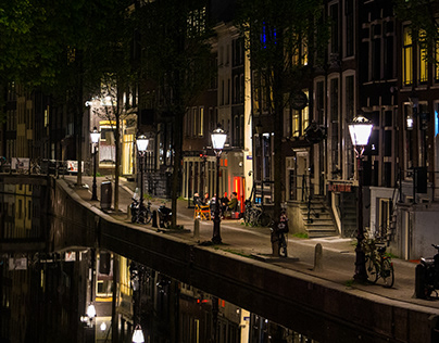 A Night in Amsterdam's Red Light District