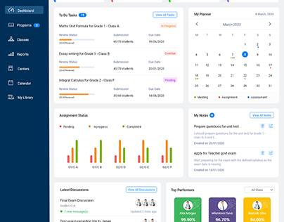Dashboard for Teacher