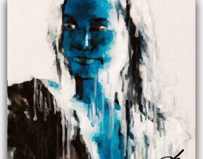 BLUE FACE LADY