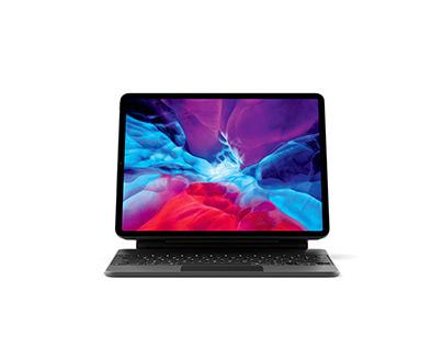 2020 iPad Pro with Keyboard Mockup