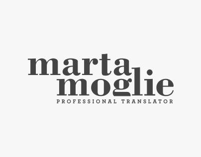 Marta Moglie : Brand identity & Website