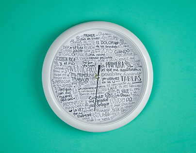 Time as moments - Lettering