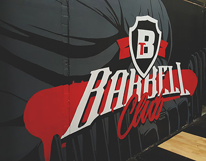 BTF - Barbell Club Gym Fitness Mural