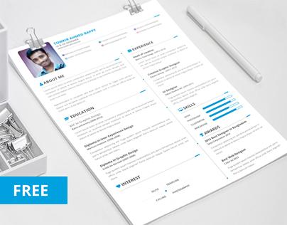 Free Creative Resume/ CV Template Download