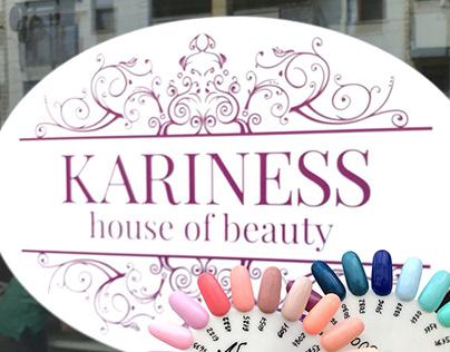 "Logo ""KARINESS house of beauty"""