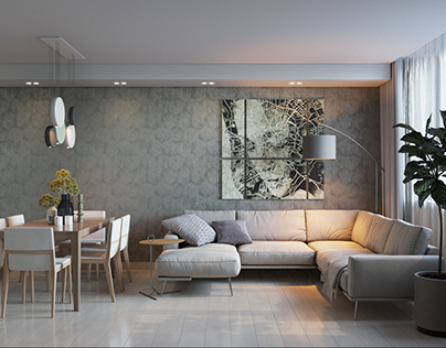 Design of the apartment for the couple at Pozniaky