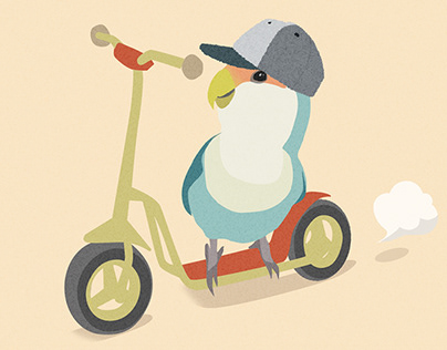 Lovebird illustration