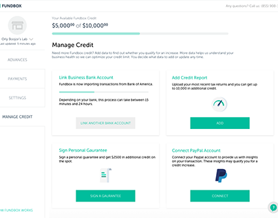 Manage credit