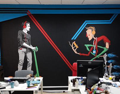 Office Mural Art