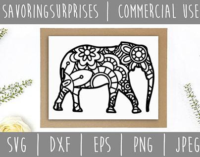 FREE SVG Mandala Elephant