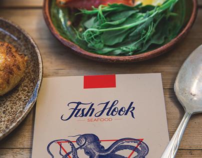 Fish Hook Seafood Identity