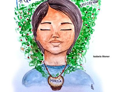 UNICEF Argentina y 365 Mujeres Ilustradas
